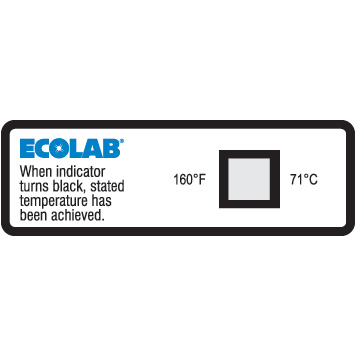 160F Dishwasher Temperature Sensor Label