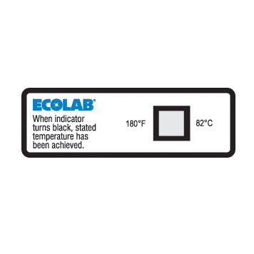 180F Dishwasher Temperature Sensor Label