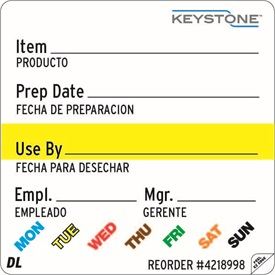 2 x 2 Plastic Removable Keystone Universal Label ES