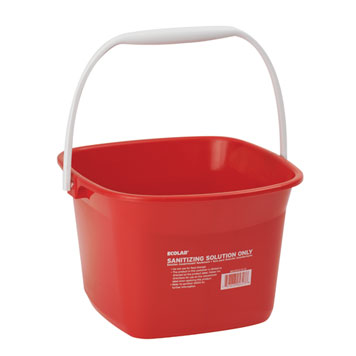 Ecolab Sanitizer Pail 6 qt Red