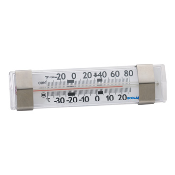 Horizontal FridgeFreezer Thermometer