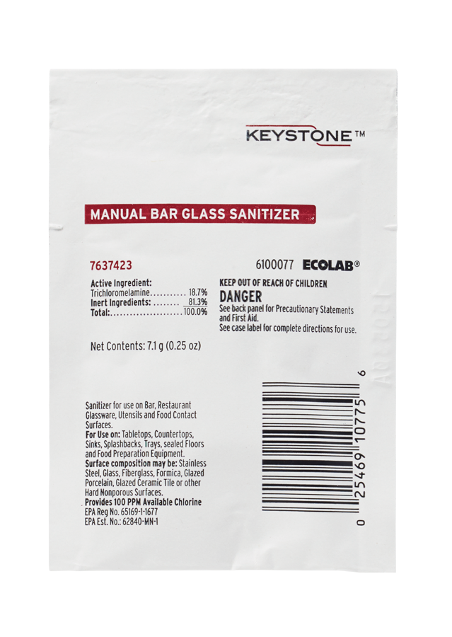 Keystone Manual Bar Glass Sanitizer